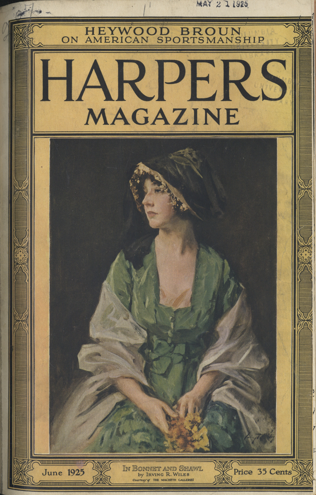 Cover of the June 1925 issue of Harpers Magazine.