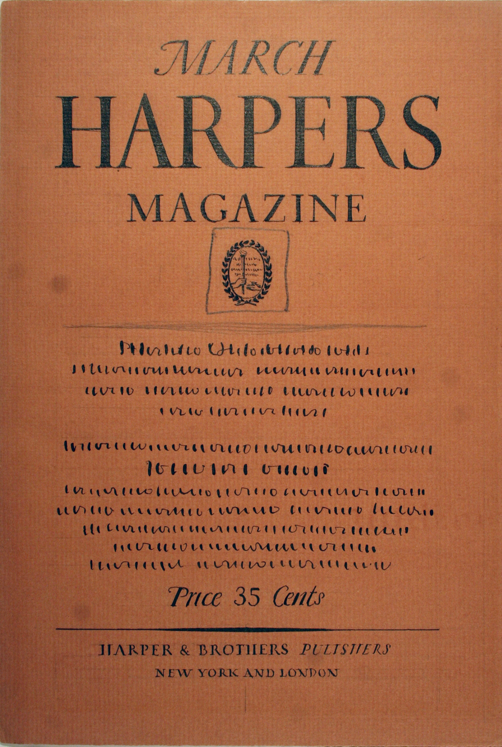 Comp for Harpers Magazine by W.A. Dwiggins (1925). Boston Public Library, 2001 Dwiggins Collection, Box 4, Folder 24.