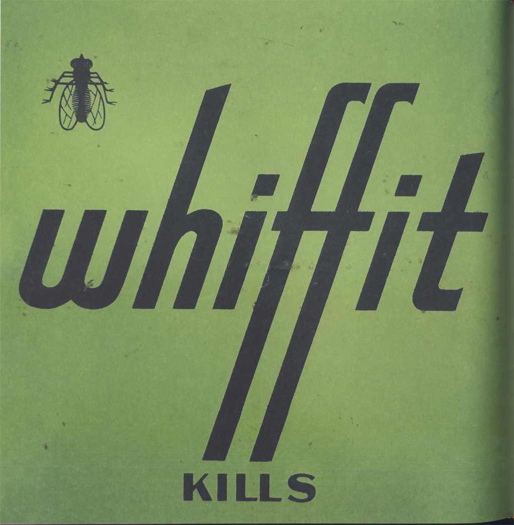 Whiffit (bug spray) from Junk Type, p. 98.