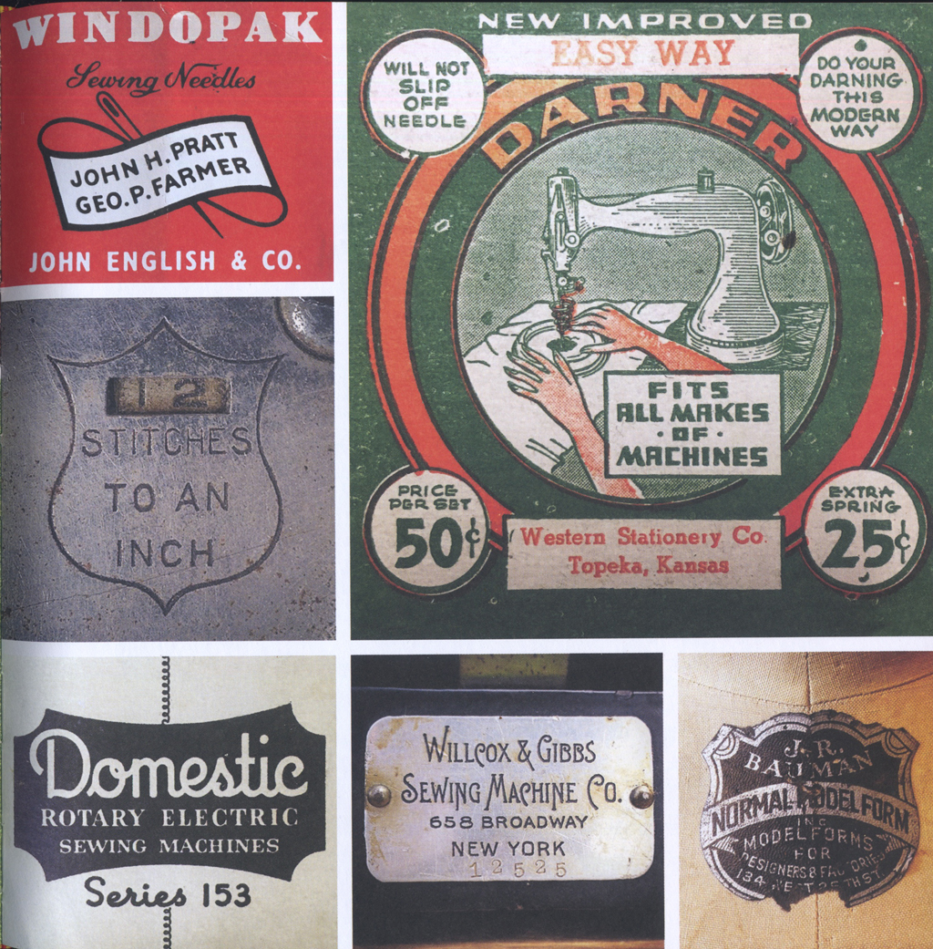 Willcox & other badges from Junk Type, p. 83.