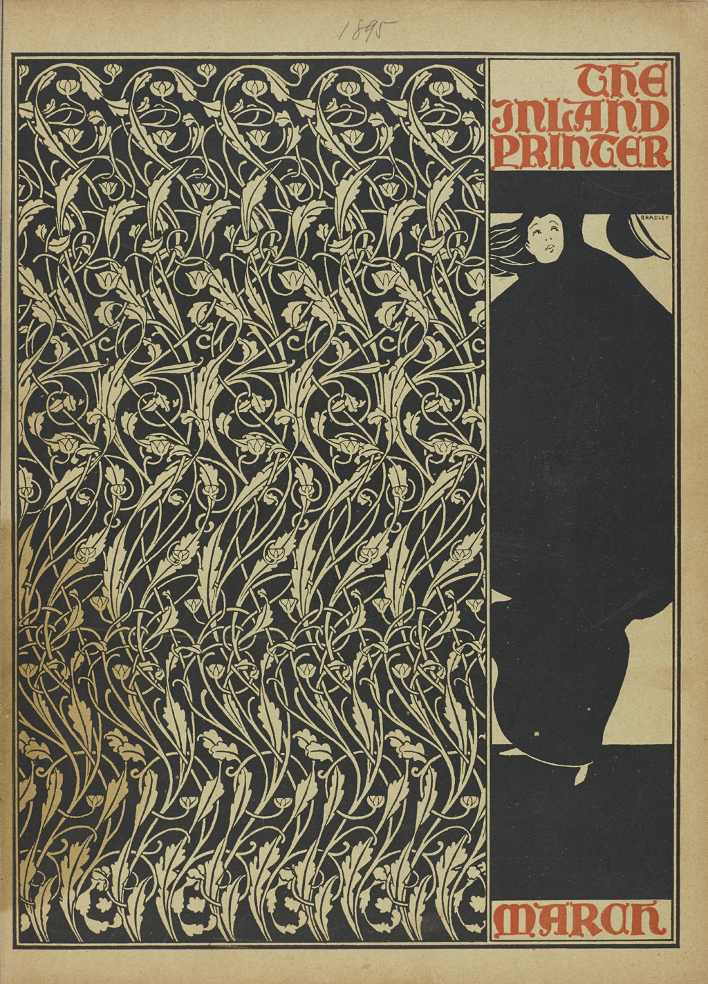 Cover of The Inland Printer (March 1895). Design by Will Bradley.
