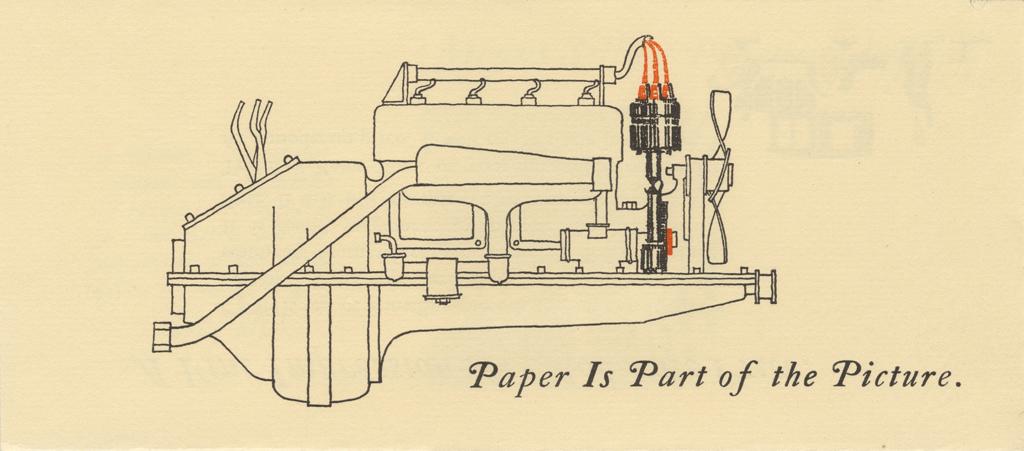 Insert from Strathmoe Motor Cars (Strathmore Paper Co., 1925). Illustration by C.H. Williams.