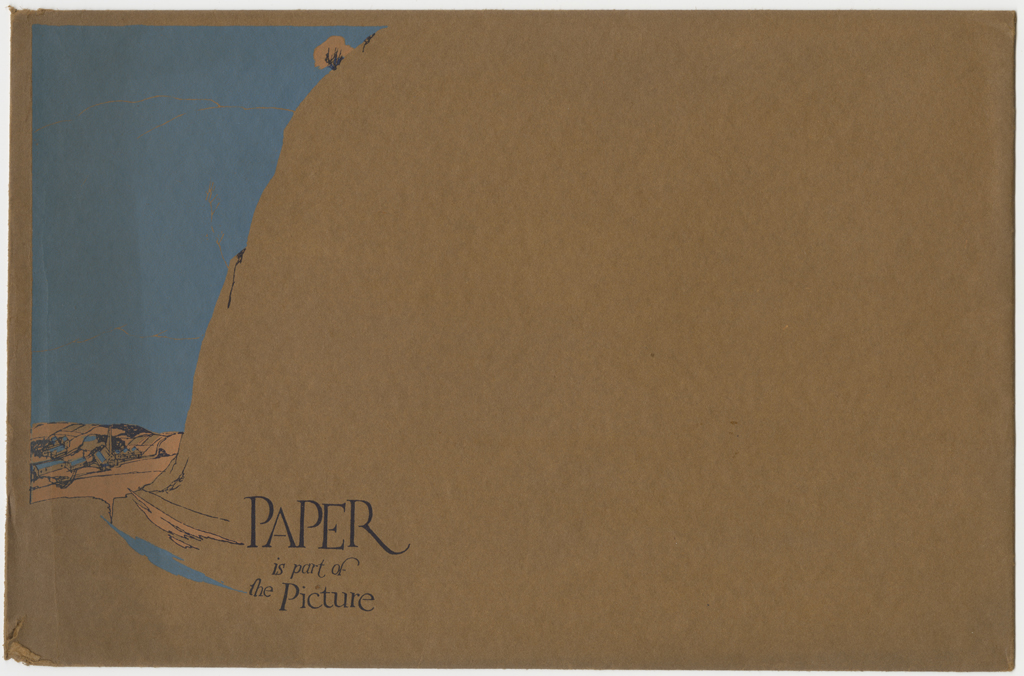 Paper is part of the Picture (Strathmore Paper Co., 1921). Designer unknown.