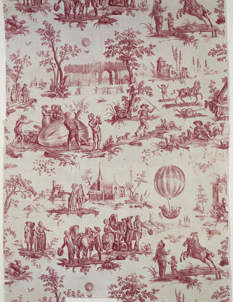 Detail of toile du Jouy from Collection of the Cooper-Hewitt Museum.