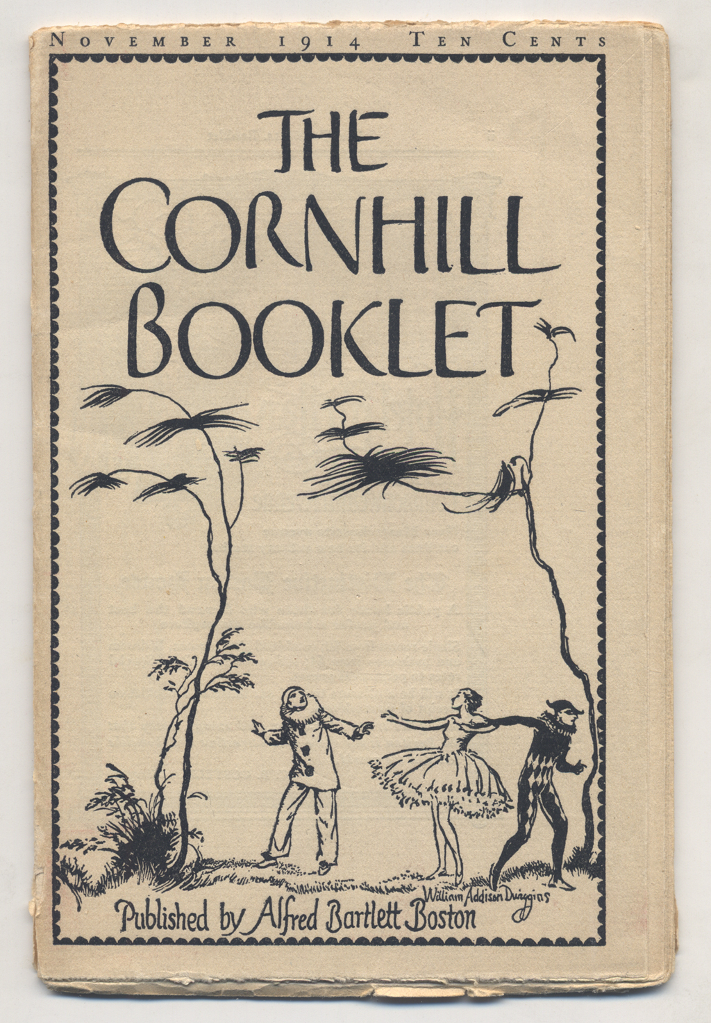 The Cornhill Booklet (November 1914). Cover design by W.A. Dwiggins.