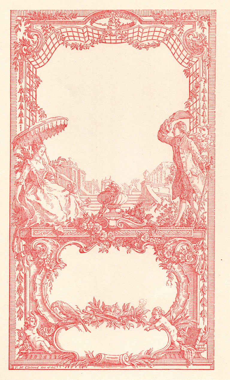 Decorative frame for title page (1908) by T.M. Cleland.