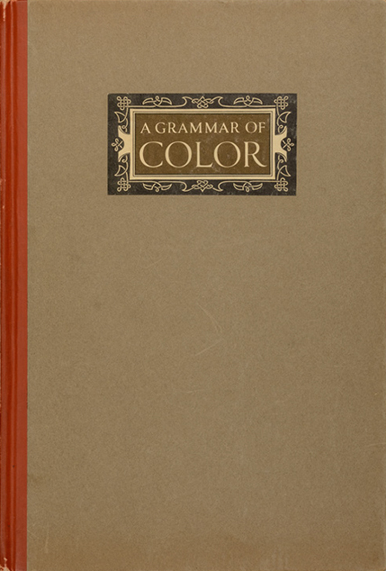 A Grammar of Color by A.H. Munsell (Mittineague, Massachusetts: Strathmore Paper Co., 1921). Cover design by T.M.Cleland. Photograph by Vincent Trinacria.