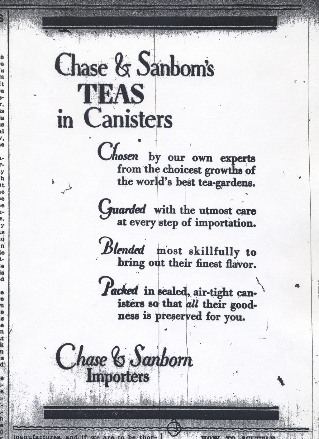 Chase & Sanborn advertisement in The Boston Evening Transcript February 4, 1916. Design by W.A. Dwiggins.