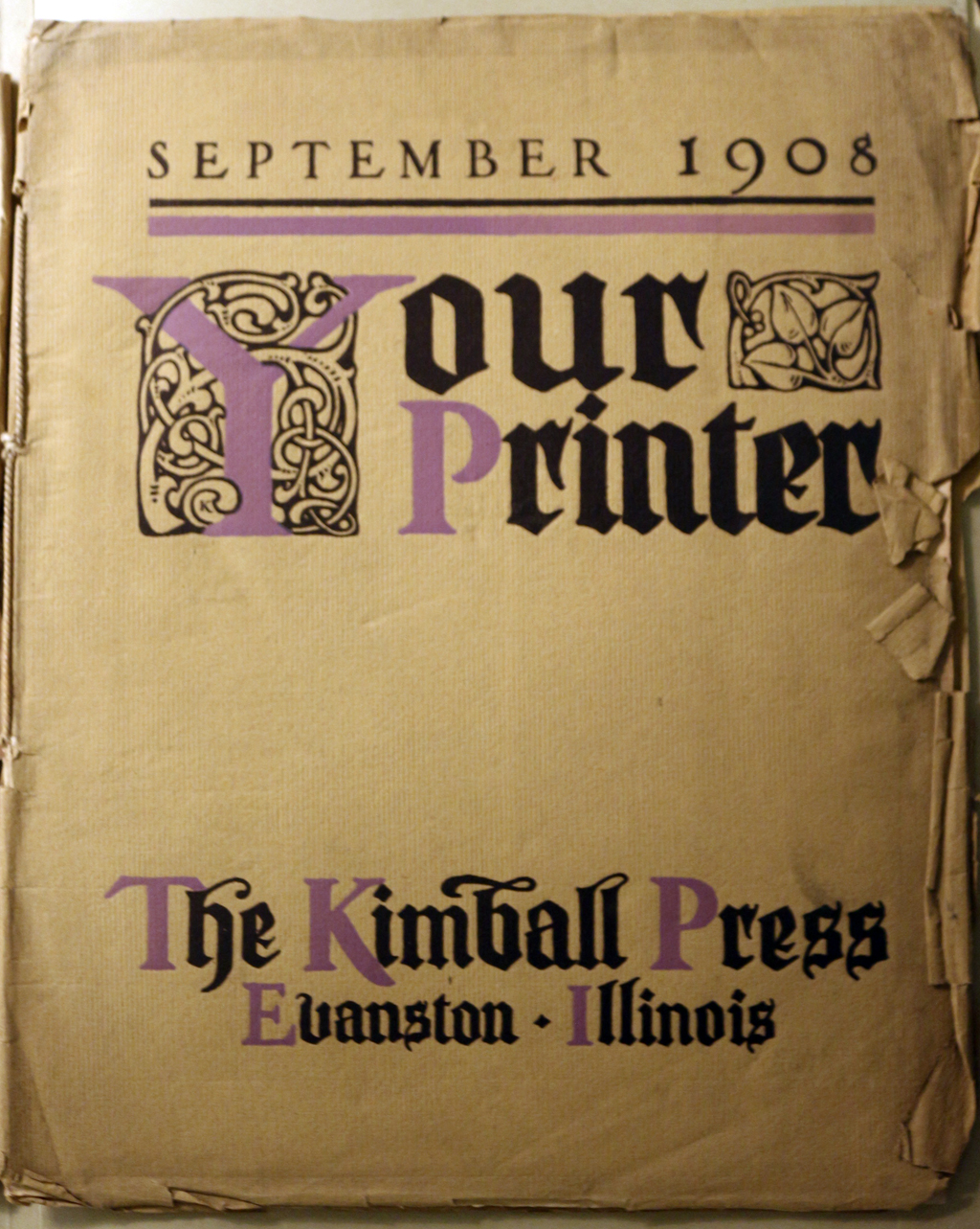Your Printer (September 1908). Cover design by Frederic W. Goudy. Courtesy of the Library of Congress.