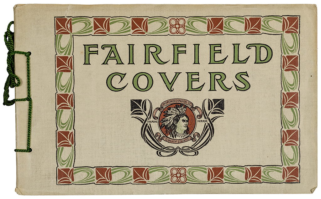Fairfield Covers sample book (Woronoco Paper Co.). Photograph by Vincent Trinacria.