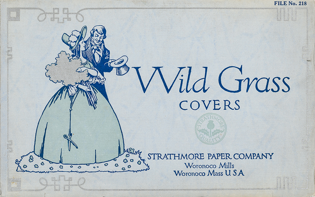 Wild Grass Covers sample book (Strathmore Paper Co., 1912). Cover design by Will Bradley. Photograph by Vincent Trinacria.