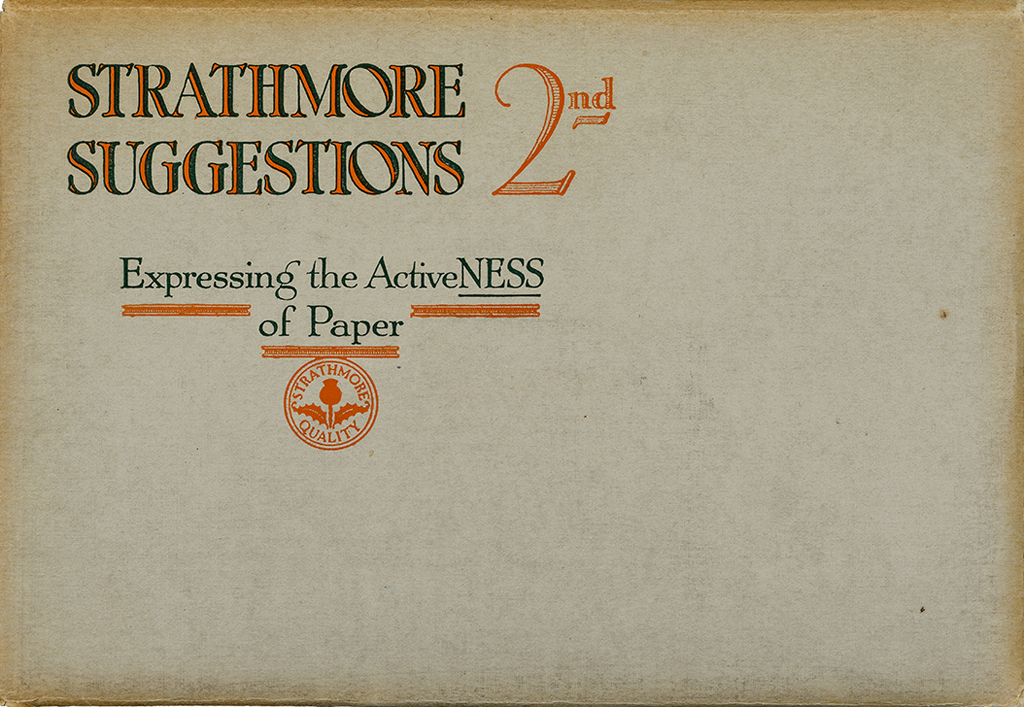 Strathmore Suggestions 2nd: Suggesting the ActiveNESS of Paper (1916). Photograph by Vincent Trinacria.