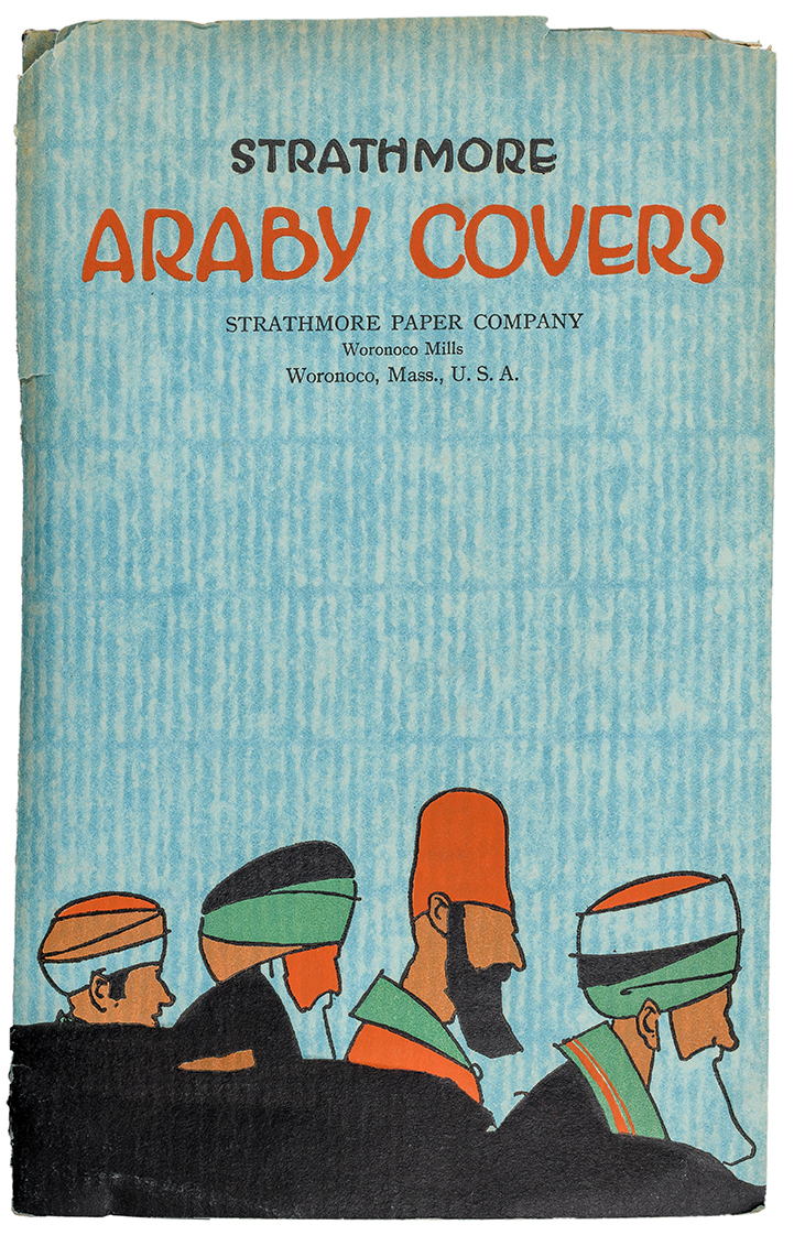 Araby Cover sample book (Strathmore Paper Co., 1922). Designer unknown. Photograph by Vincent Trinacria.