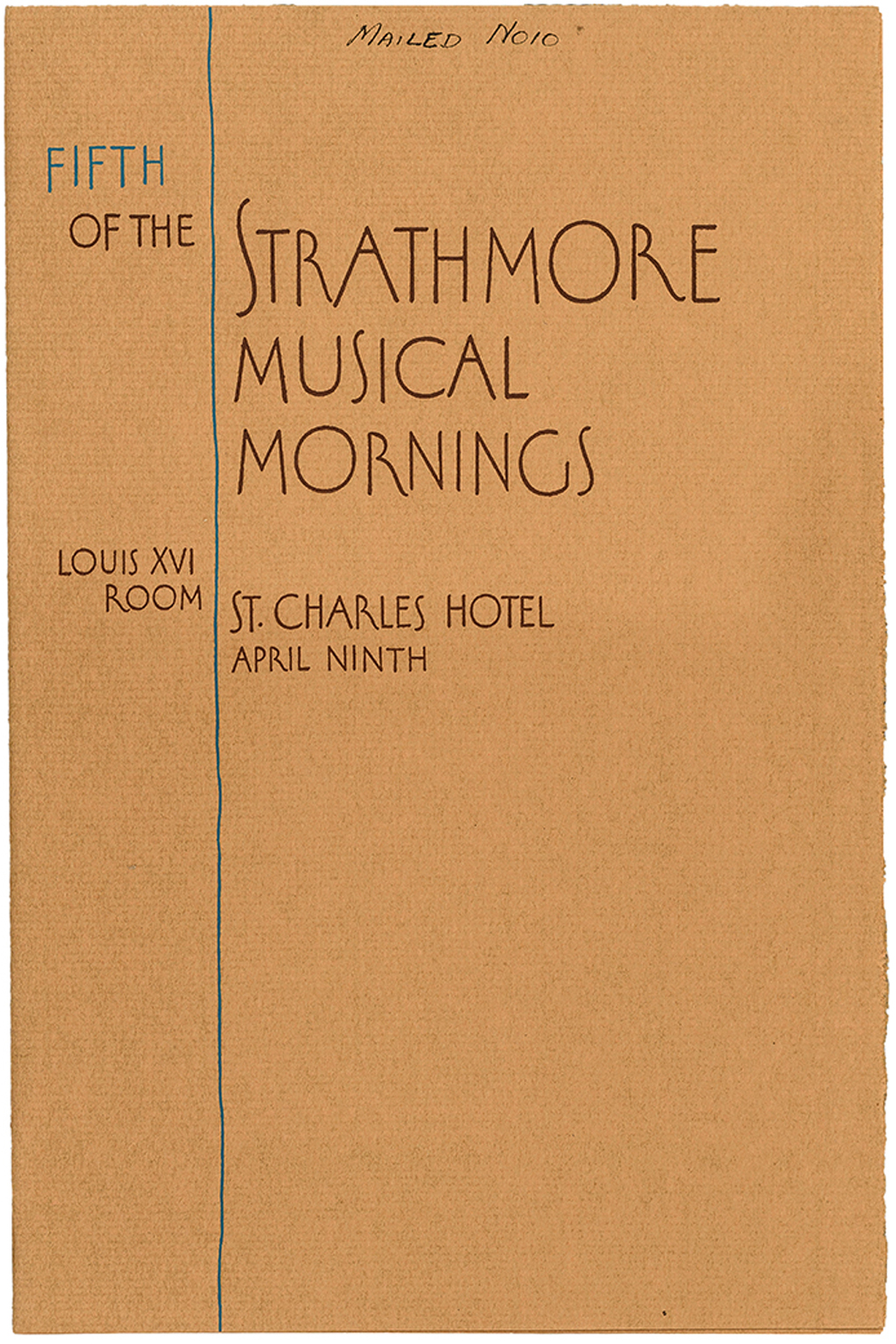 """Strathmore Musical Mornings"" from Four Demonstrations from Strathmore Town (Strathmore Paper Co., 1926). Design by Oswald Cooper. Photograph by Vincent Trinacria."