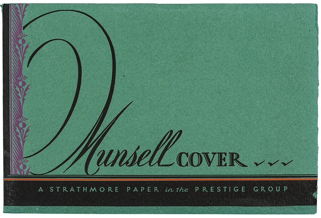 Munsell Cover sample book (Strathmore Paper Co., 1930). Designer unknown. Photograph by Vincent Trinacria.
