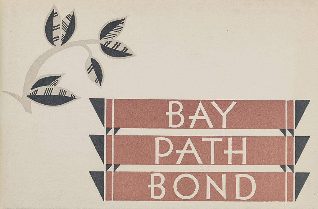 Bay Path Bond swatch book (Strathmore Paper Co., 1930). Designer unknown. Photograph by Vincent Trinacria.
