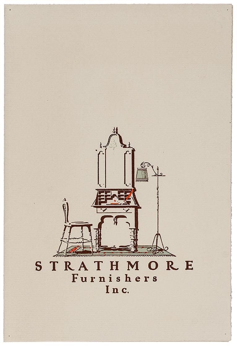Strathmore Furnishers, Inc. (1926). Illustration by F.A. Mutz. Photograph by Vincent Trinacria.