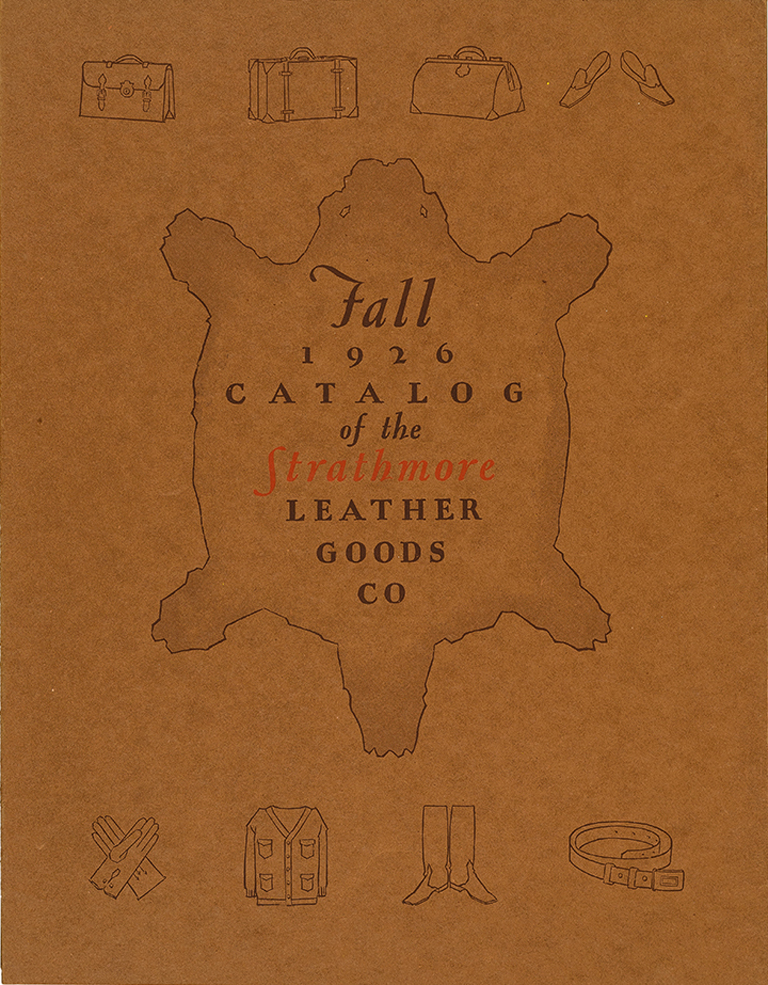 Strathmore Leather Goods Co. (1926). Designer unknown. Photograph by Vincent Trinacria.