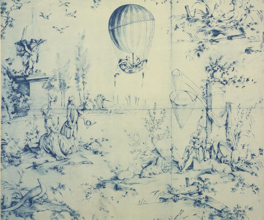 Toile du Jouy détail by Huet (1784)