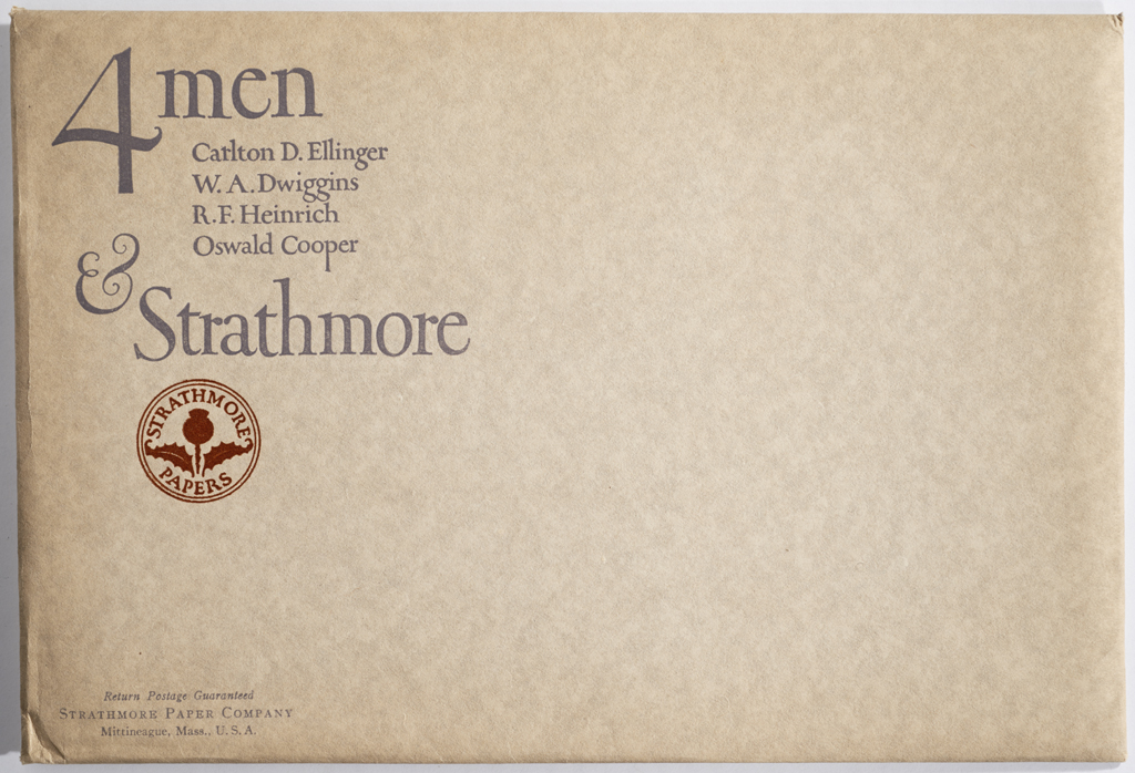 4 Men & Strathmore envelope (1923). Design by Oswald Cooper. Photograph by Annie Schlechter.