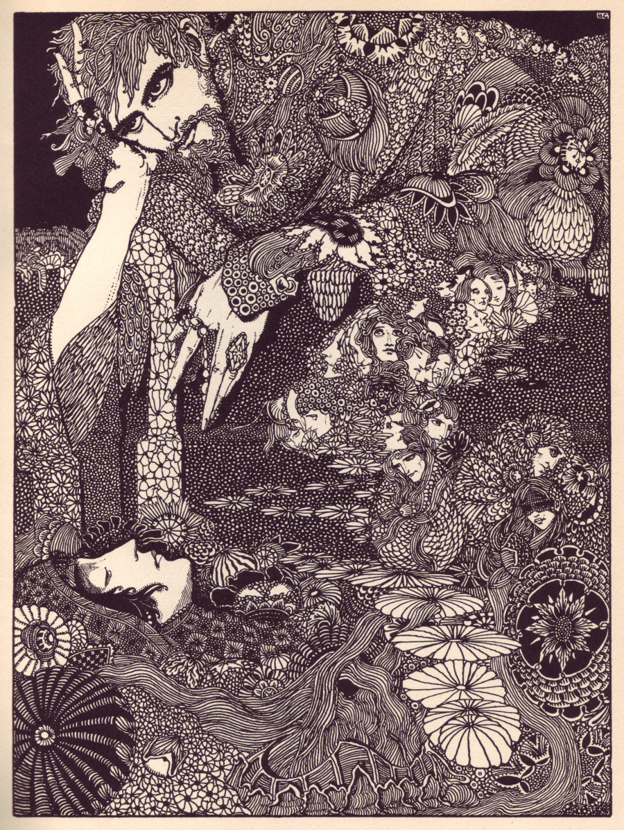 Illustration by Harry Clarke from Tales of Mystery and Imagination by Edgar Allan Poe (London: George G. Harrap, 1919).