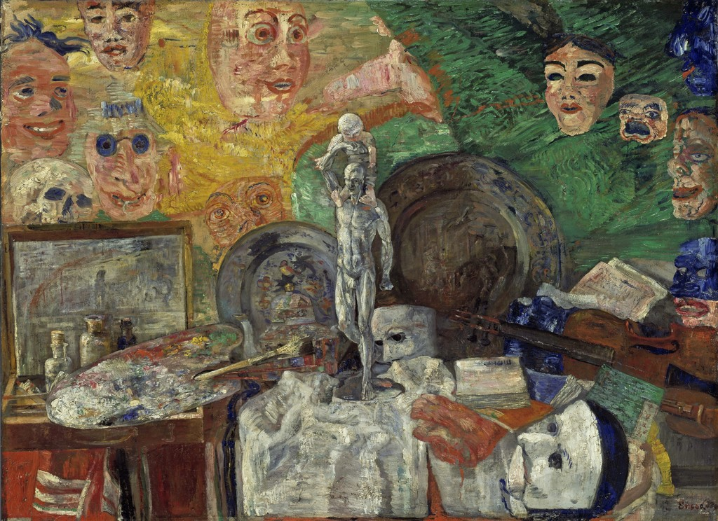 Still Life in the Studio by James Ensor (1889).