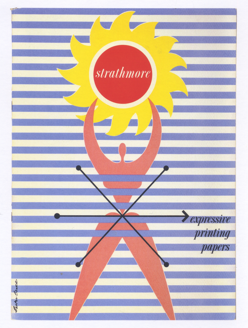 Strathmore expressive printing papers (Strathmore Paper Co., 1950). Design by Lester Beall. Photograph by Vincent Trinacria.