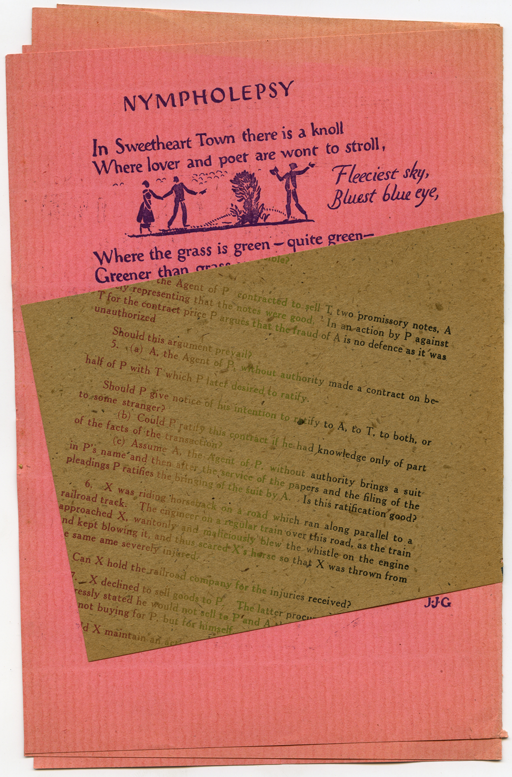 Back cover with wrapper of Vague (1915). Design by W.A. Dwiggins.