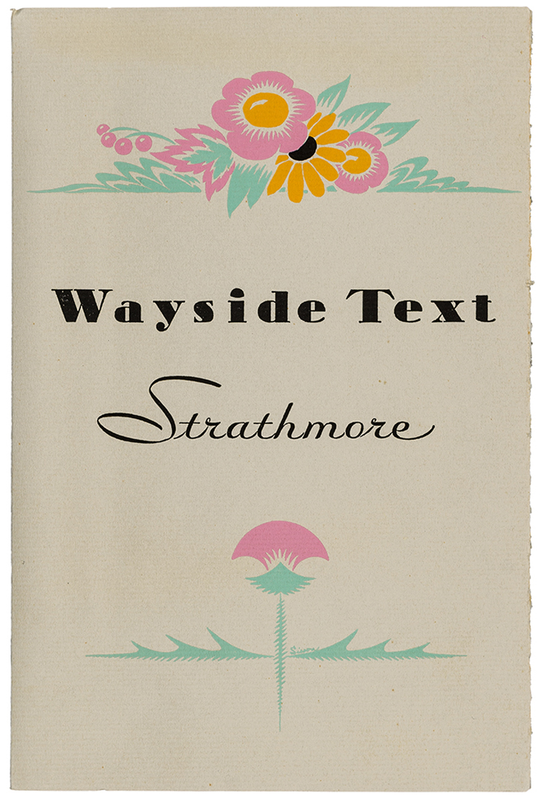 Wayside Text Strathmore swatch book (Strathmore Paper Co., 1931). Designer unknown. Photograph by Vincent Giordano.