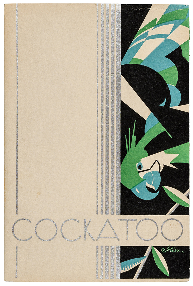 Cockatoo swatch book (Strathmore Paper Co., 1931). Illustration by Julian.