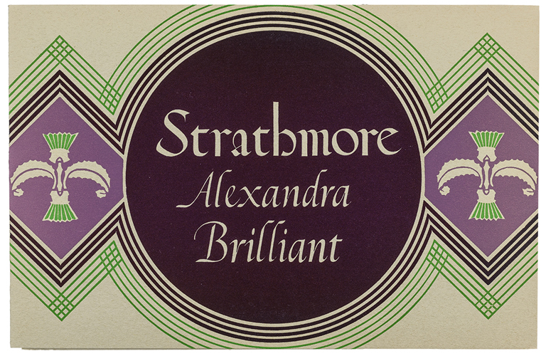 Strathmore Alexandra Brilliant swatch book (Strathmore Paper Co., 1931). Design by Rudolph Ruzicka. Photograph by Vincent Giordano.