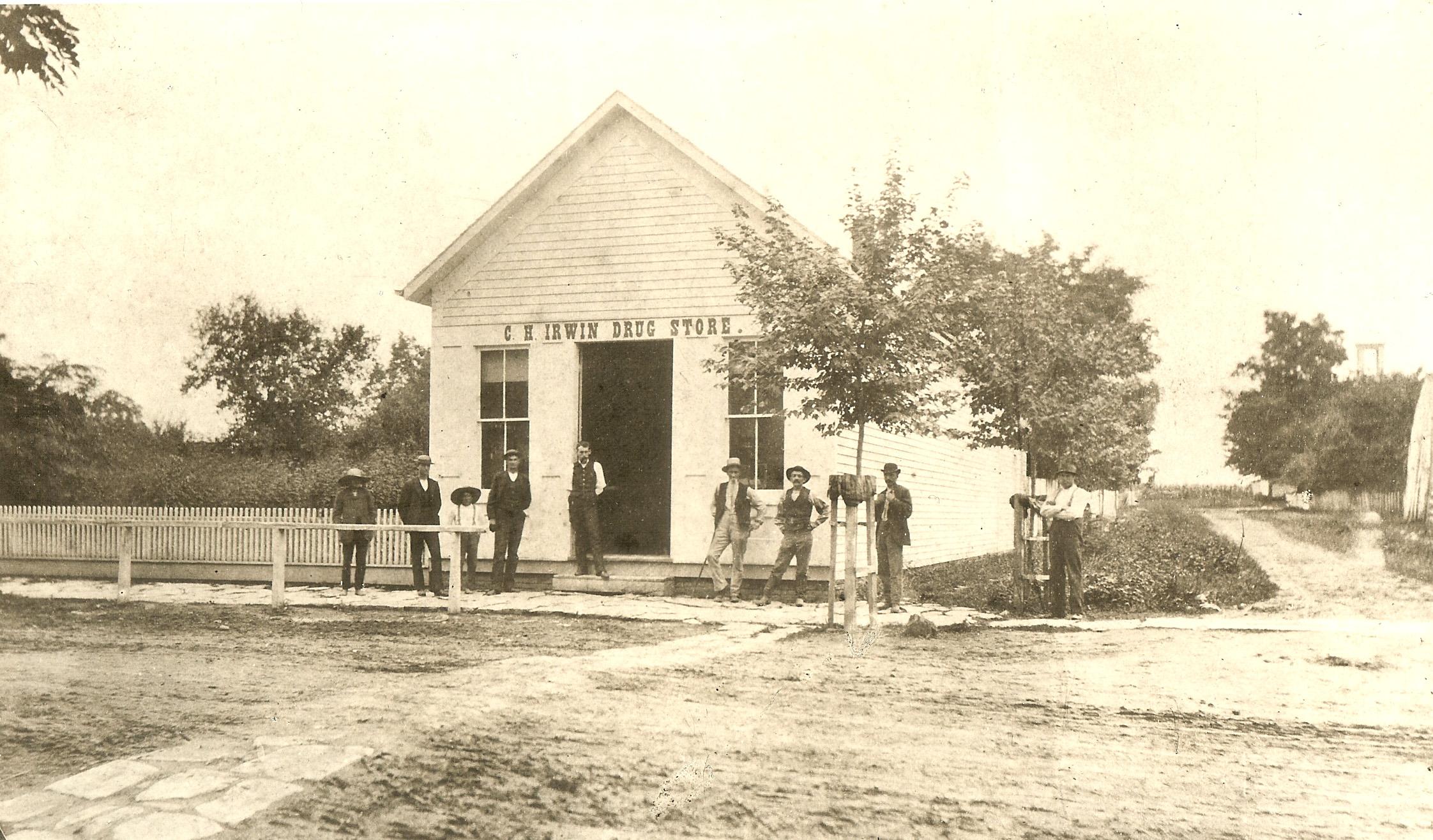 C.H. Irwin Drug Store, Martinsville, Ohio (c.1883–1884). Courtesy Clinton County Historical Society.