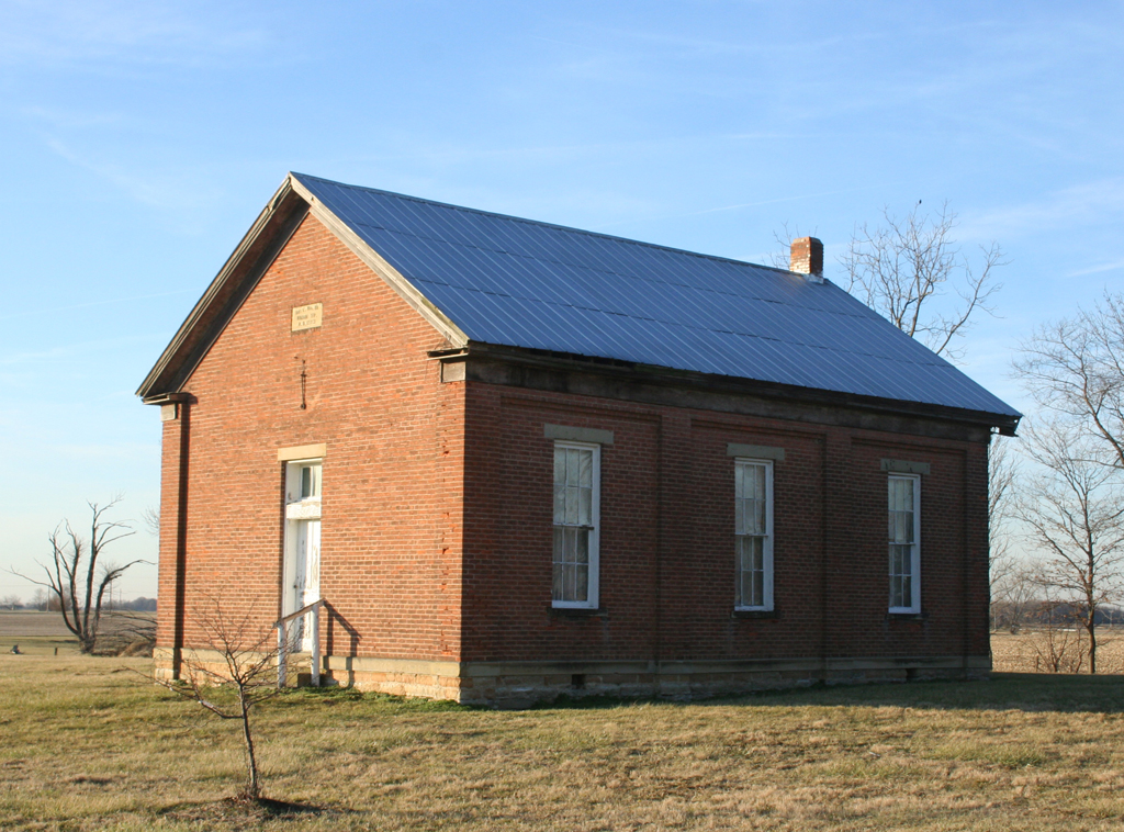 Dover Monthly Meeting House (Clinton County, Ohio). Photograph by Paul Shaw (2006).
