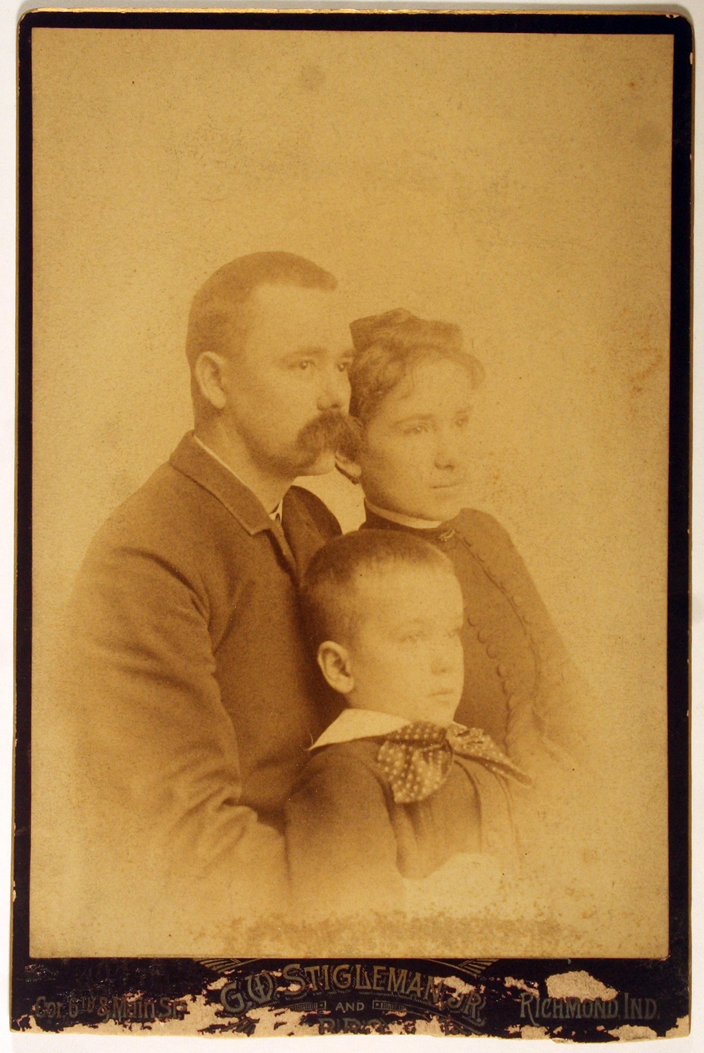 Moses, Eva and Willie Dwiggins (c.1883). Photograph by G.W. Stigleman, Jr. (Richmond, Indiana). Courtesy Special Collections, Boston Public Library.