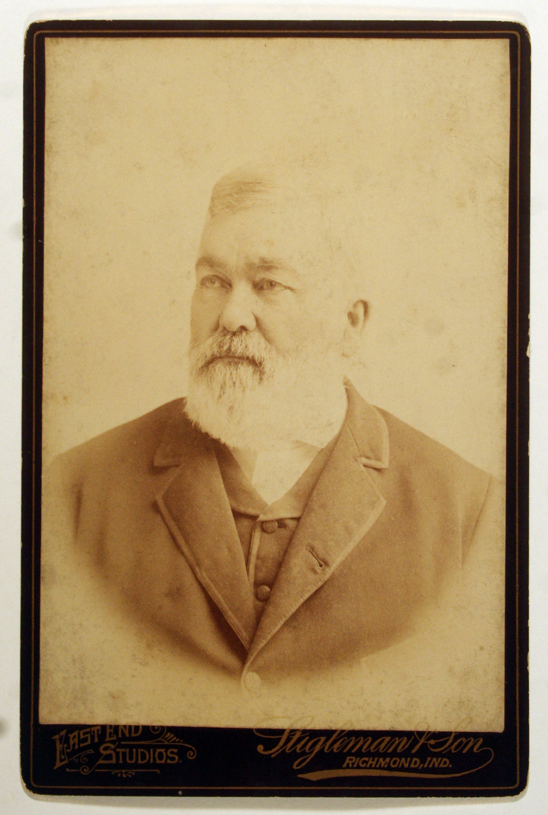Zimri Dwiggins (c.1886–1889). Photograph by East End Studios, Stigleman & Son, Richmond, Indiana). Courtesy Special Collections, Boston Public Library.