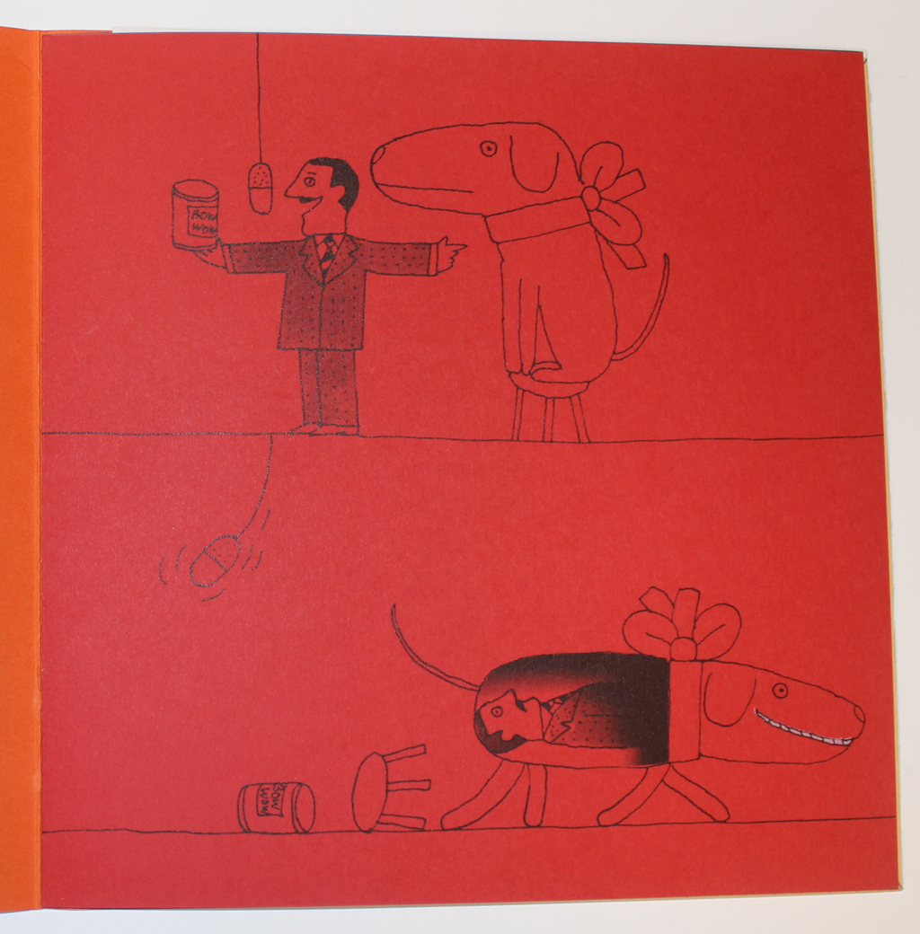"Page from ""Are you afraid of Strathmore?"" booklet (c.1968). Illustrations by Simms Taback."