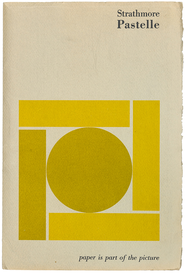Cover of Strathmore Pastelle swatch book (1968). Designer unknown. Photograph by Vincent Giordano.