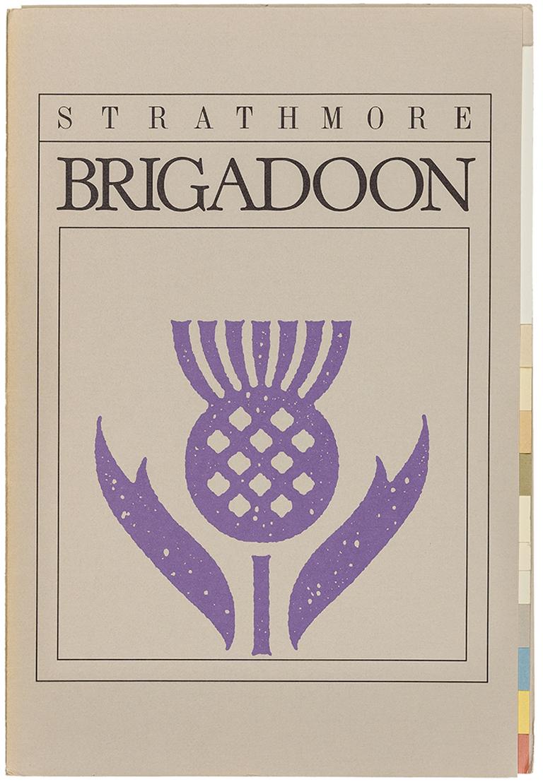 Strathmore Brigadoon swatch book (1984). Designer/illustrator unknown. Photograph by Vincent Giordano.