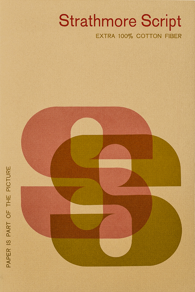Strathmore Script swatch book (c.1969). Designer unknown. Photograph by Vincent Giordano.