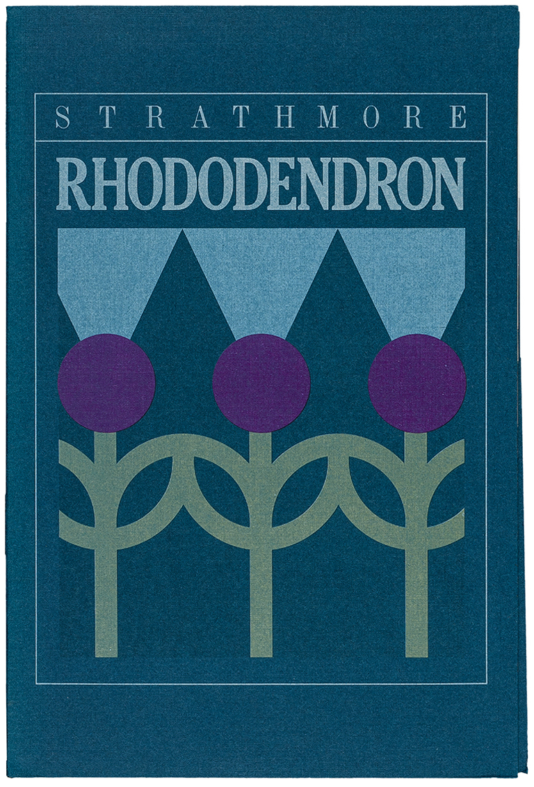 Strathmore Rhododendron swatch book (1981). Designer/illustrator unknown. Photograph by Vincent Giordano.