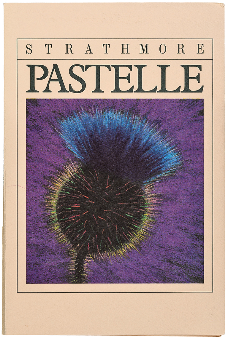 Strathmore Pastelle swatch book (1981). Designer/illustrator unknown. Photograph by Vincent Giordano.