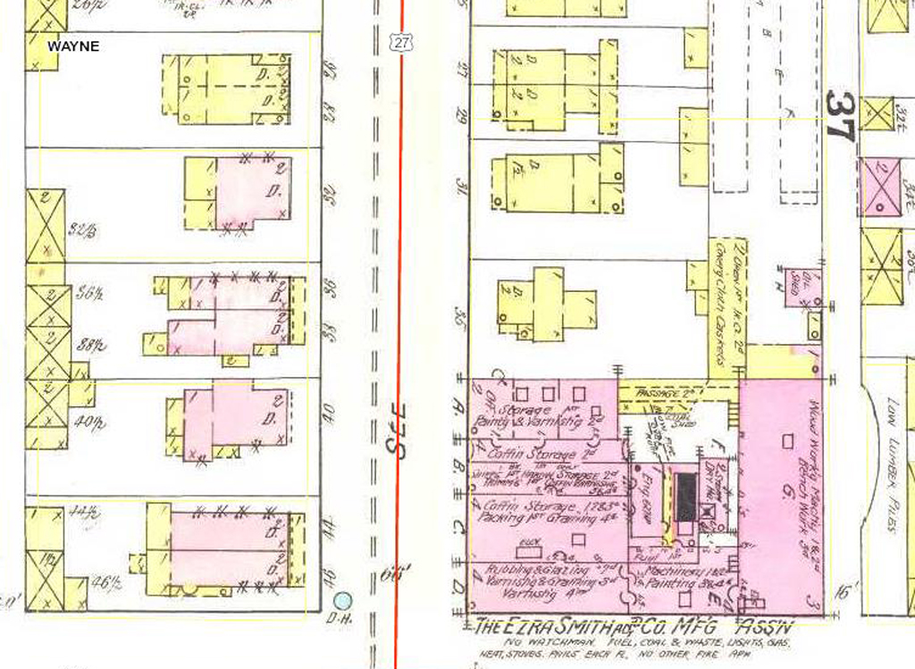 36 South 9th Street. From Richmond, Indiana (New York: Sanborn Map & Publishing Company, 189).