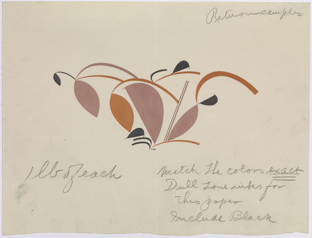 Original stencil ornament (1928) for exhibition labels for The Architect and the Industrial Arts: An Exhibition of Contemporary American Design. Image copyright Metropolitan Museum of Art. Image source: Art Resource NY.