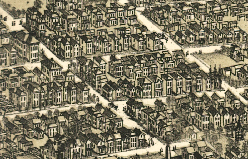 Detail of map of The City of Richmond, Indiana 1884 showing South 12th Street.