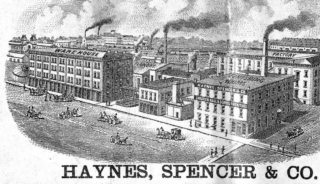 Haynes, Spencer & Co. works in Richmond. Image Courtesy of the Morrison-Reeves Library, Richmond, Indiana.
