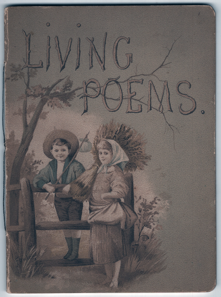 Cover of Living Poems by Ellen E. Dickinson (Munich and New York: n.d.). Courtesy Special Collections, Boston Public Library.