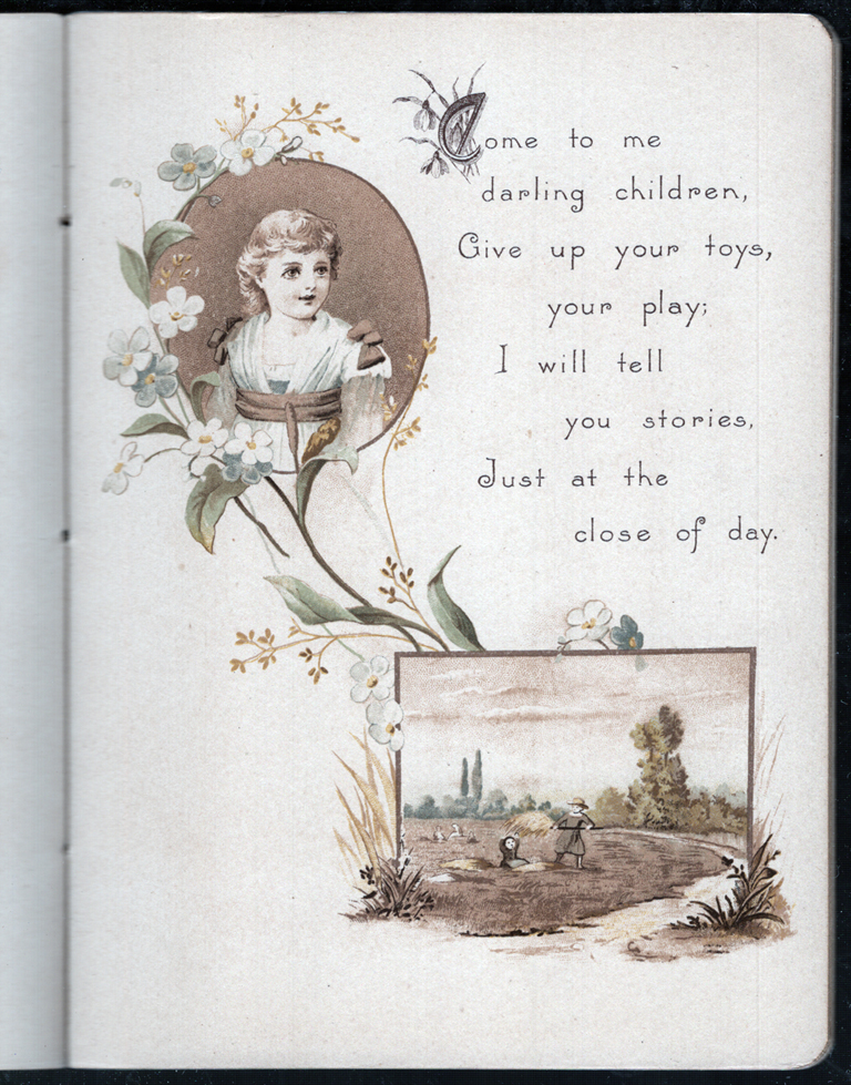 Page from Living Poems by Ellen E. Dickinson (Munich and New York: The Art Litho. Pub. Co., n.d.). Courtesy Special Collections, Boston Public Library.