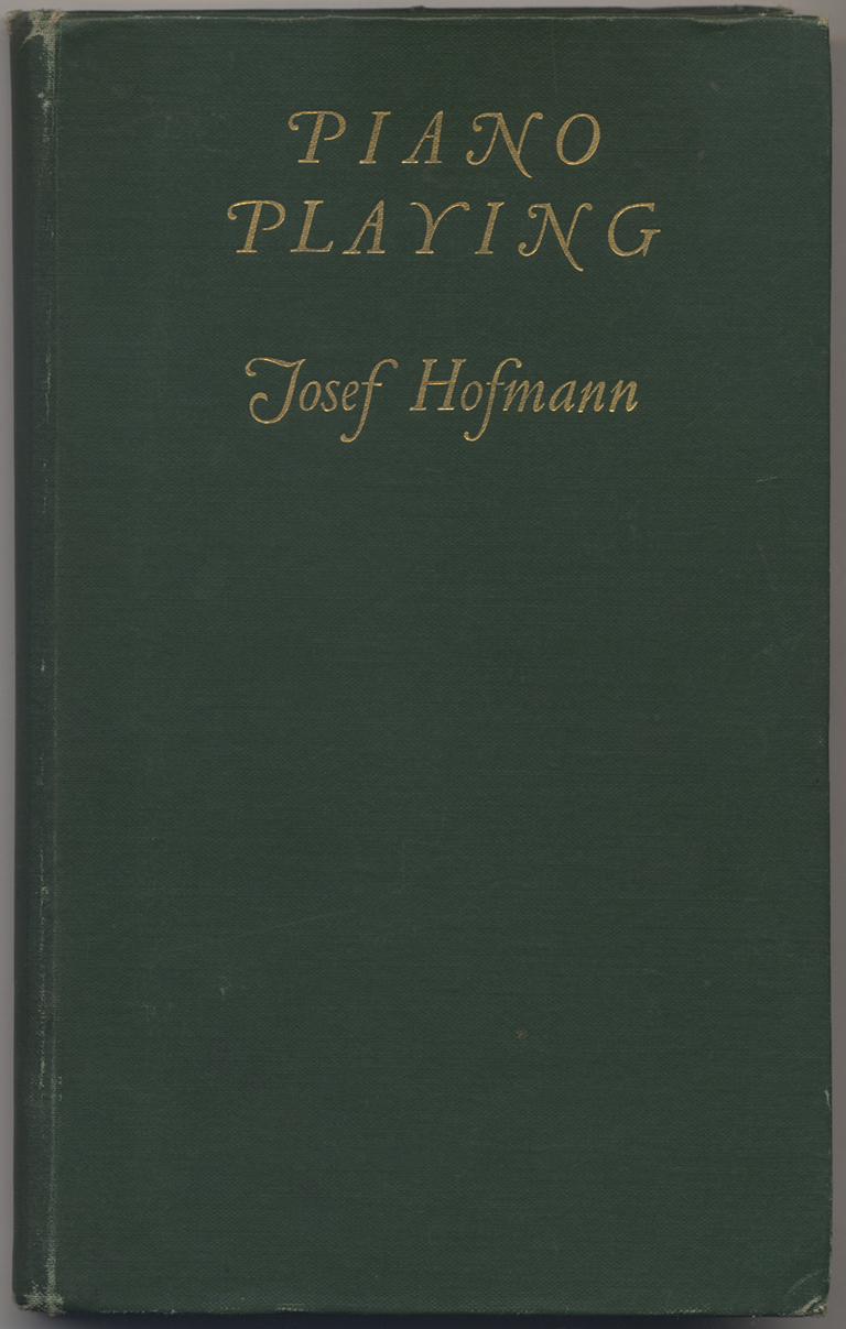 Piano Playing by Josef Hofmann (New York: The McClure Company, 1908). Design by W.A. Dwiggins. Collection of Paul Shaw.