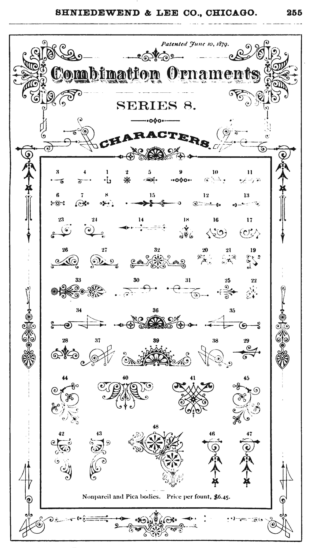 Combinations Ornaments Series 8. From Shniedewend & Lee Co. (Chicago: Shniedewend & Lee Co., 1888).