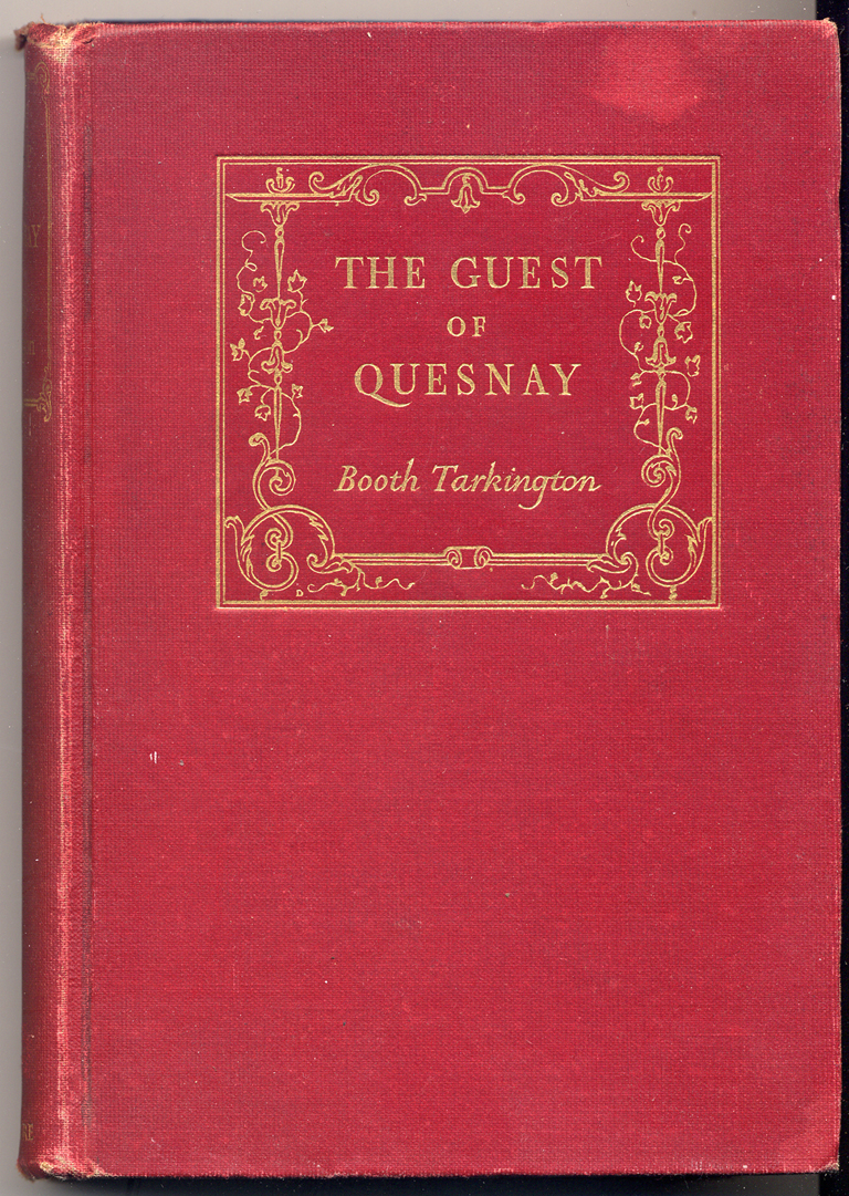 Binding for The Guest of Quesnay by Booth Tarkington (New York: S.S. McClure Co., 1908). Design by W.A. Dwiggins. Collection of Paul Shaw.